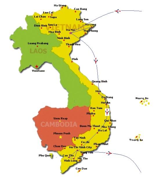 map | Asia Hero Travel | Vietnam